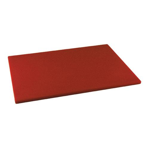 Winco CBRD-1520 15 in x 20 in x 1/2 in Red Cutting Board for Restaurant Chef