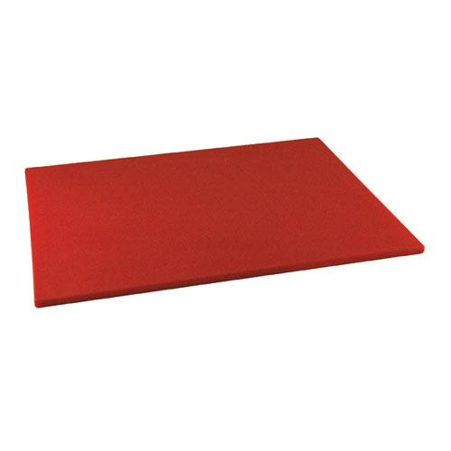 Winco CBRD-1824 18 in x 24 in x 1/2 in Red Cutting Board for Restaurant Chef