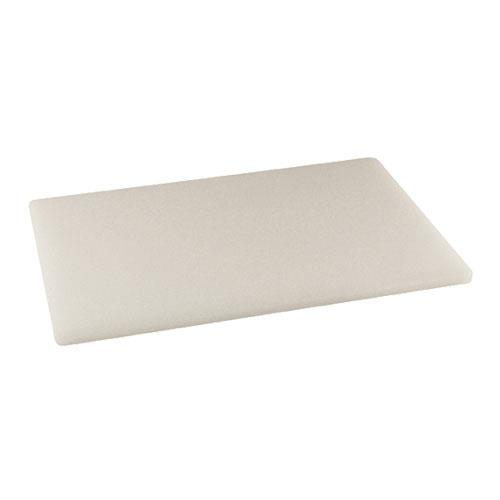 Winco CBWT-1218 12 in x 18 in x 1/2 in White Cutting Board for Restaurant Chef