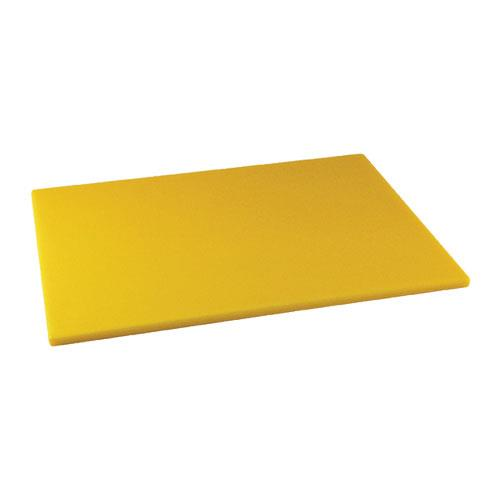 Winco CBYL-1520 15 in x 20 in x 1/2 in Yellow Cutting Board for Restaurant Chef