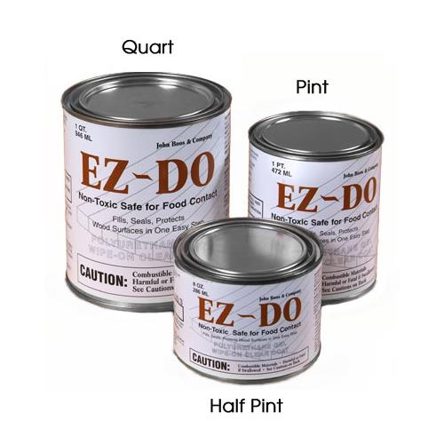 EZ-DO Finish- (12) Half Pint Cans at Discount Sku EZ-8C JHBEZ8C