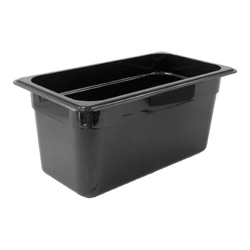 Cambro 36CW Camwear Black Third Size 6 in Deep Food Pan for Restaurant Chef