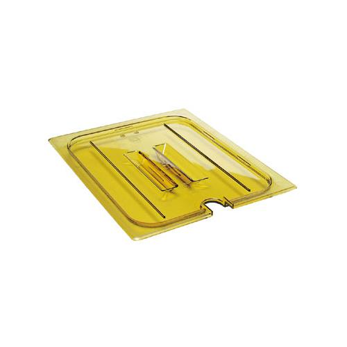 H-Pan Amber 1/6 Size Notched Cover w/Handle at Discount Sku 60HPCHN 281542