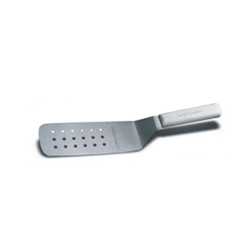 Dexter Russell PS286-8PCP 8 in x 3 in Sani-Safe White Perforated Turner for Restaurant Chef