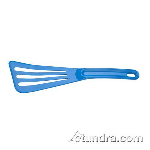"Mercer Cutlery M35110BL 12"" Blue High Heat Slotted Spatula for Restaurant Chef"