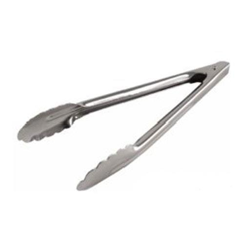 2 Tongs: 9 1/2 In Stainless Steel Scalloped