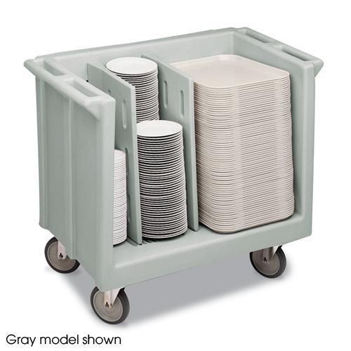 Black Adjustable Tray and Dish Cart