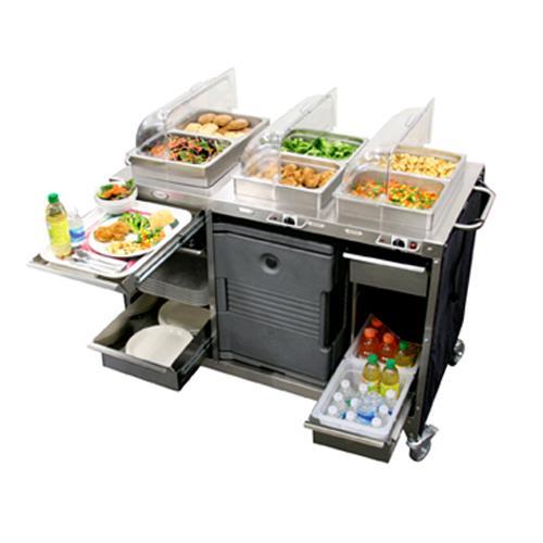 Cadco cbc hc mobile hot cold buffet cart etundra