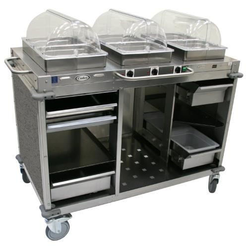 Cadco Cbc Hhh L3 Mobile Hot Buffet Cart With Gray