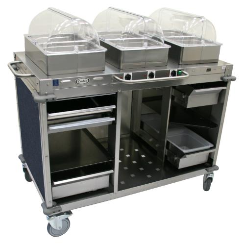 Wagon Cart Buffet ~ Cadco cbc hhh l mobile hot buffet cart with blue