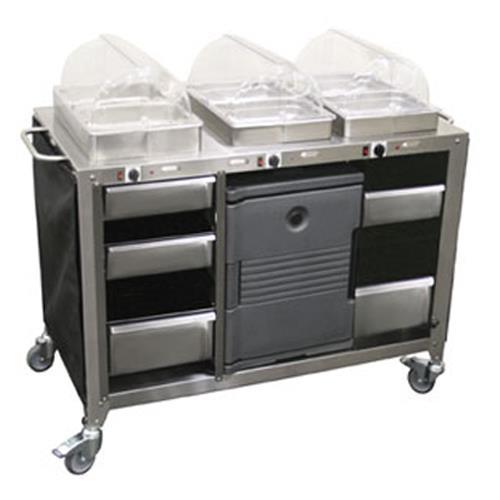 Cadco cbc hhh mobile hot buffet cart etundra