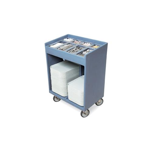 32 in X 21 in Blue Tray and Silver Cart
