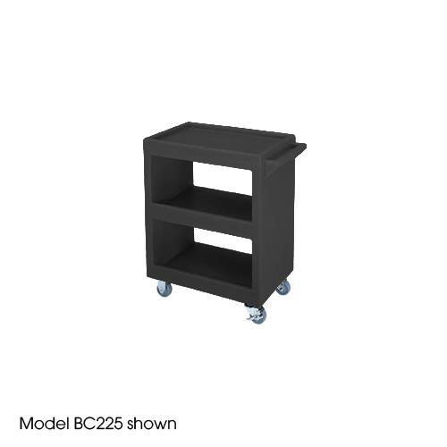 28 in X 16 in Black Service Cart