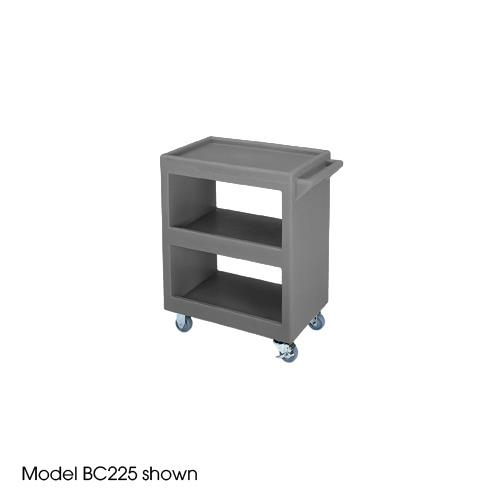 28 in X 16 in Gray Service Cart