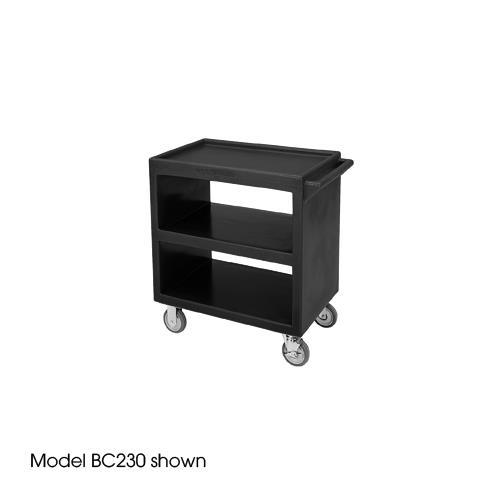 33 1/4 in X 20 in Black Service Cart