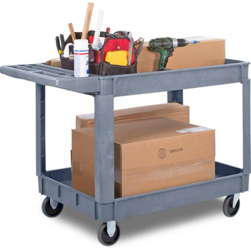 kitchen utility cart carlisle uc452523 45 in x 25 in gray utility cart 31270