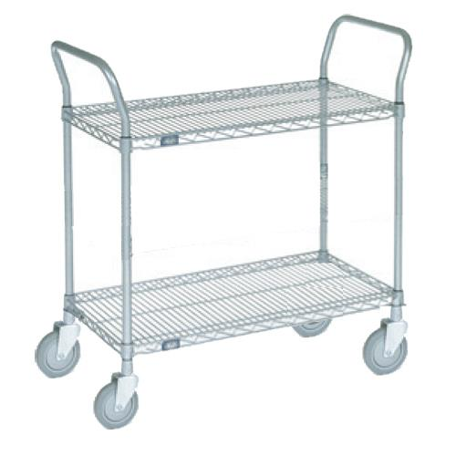 24 in x 48 in Chrome Wire Cart