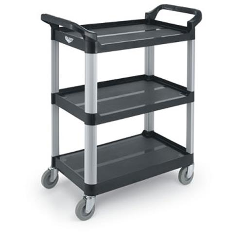 33 in x 16 13/16 in Black Utility Cart