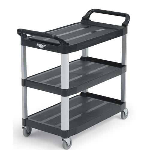40 1/4 in x 19 7/8 in Black Utility Cart