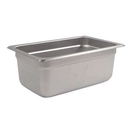 Crestware 2144 Fourth Size 4 in Deep Steam Table Pan for Restaurant Chef