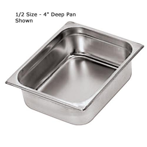 Double Size 4 in Deep Steam Table Pan at Discount Sku 14101-10 WOR1410110