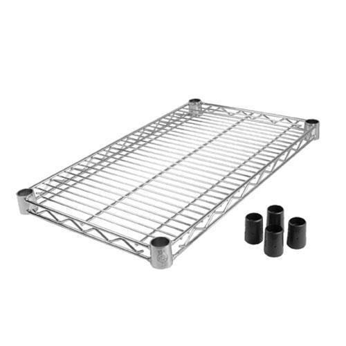 "14"" x 24"" Chrome Plated Wire Shelf at Discount Sku FF1424C 97124"