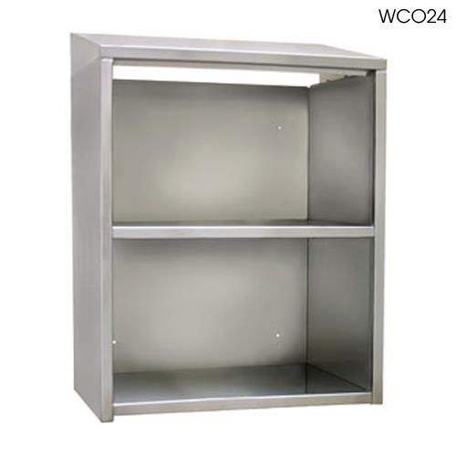 Glastender wco96 96 open front wall cabinet etundra for Kitchen cabinets 40 inches high