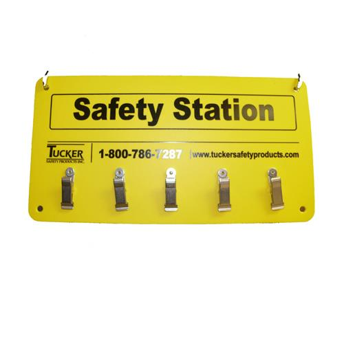 Tucker Safety 99953 Wall Mount 5 Clip Safety Station Ebay