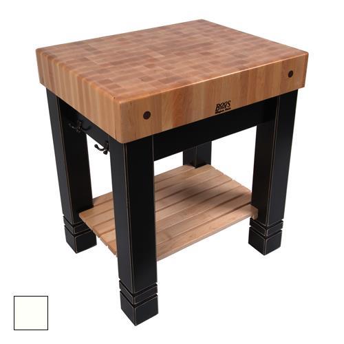 John boos cu bb3024 al 30 alabaster butler 39 s block etundra - Butcher block kitchen work table ...