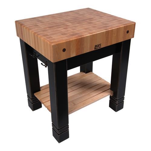 Kitchen Work Table Butcher Block : John Boos - CU-BB3024-BK - 30