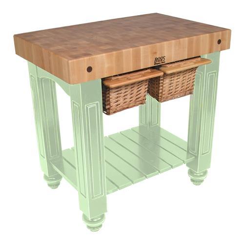 John boos cu gb4824 s 48 sage gathering block etundra - Butcher block kitchen work table ...