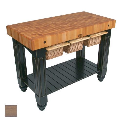 "48x24 Butcher Block Table Wicker Baskets: John Boos - CU-GB4824-UG - 48"" Gray Gathering Block"