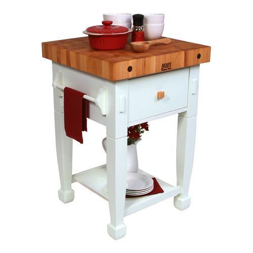 John boos jasmn24243 d s al 24 alabaster jasmine maple etundra - Butcher block kitchen work table ...