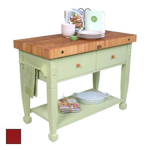 Kitchen Work Table Butcher Block : John Boos - JASMN48243-2D-S-BN - 48