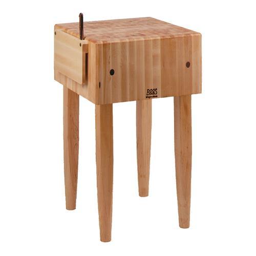 John boos pca3 24 x 24 pca block etundra - Butcher block kitchen work table ...