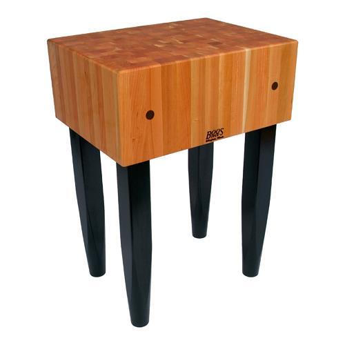 John boos rn lb2424 24 x 24 rouge le bloc etundra - Butcher block kitchen work table ...
