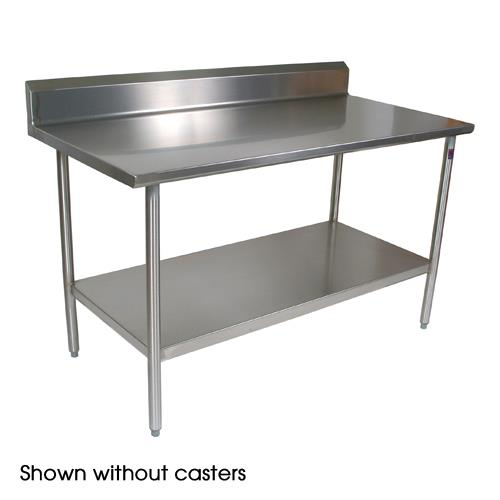 "Cucina Americana 48"" x 30"" Tavalo Riser Top Work Table w/ Casters at Discount Sku CUCTA25C JHBCUCTA25C"