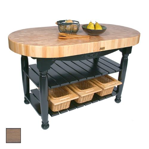 "Kitchen Island Table Top: John Boos - CU-HAR60-UG - 60"" Gray Harvest Table"