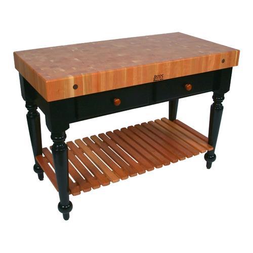 John Boos Rn Lr05 Ssl 48 Le Rustica Kitchen Table W Sh Etundra