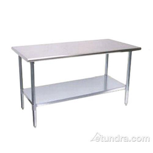 "30"" x 60"" Stainless Steel Work Table w/ Stainless Steel Undershelf at Discount Sku TSW-3060SS TURTSW3060SS"