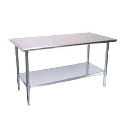 "30"" x 96"" Stainless Steel Work Table w/ Galvanized Undershelf at Discount Sku TSW-3096E TURTSW3096E"