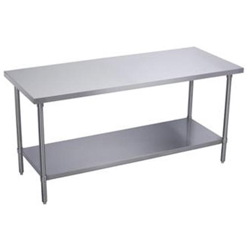 Flip And Fold Rolling Table Stainless Steel Wood: 30 X 36 In Heavy Duty Work Table