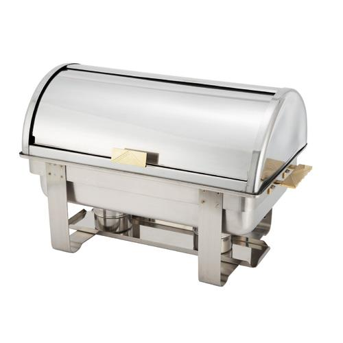 Winco c 5080 8 qt dallas roll top chafer ebay for Dining room equipment