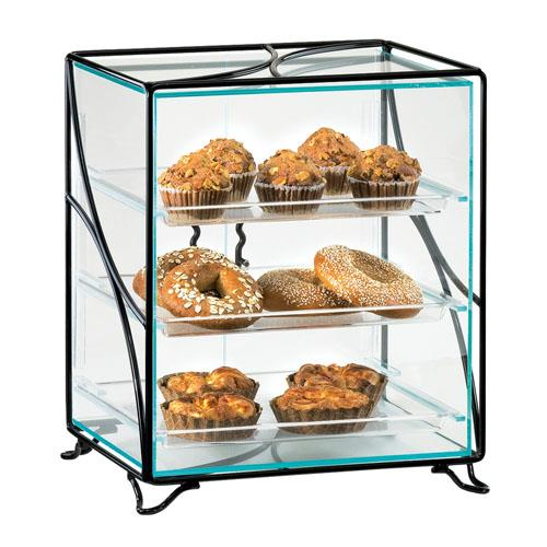 Cal mil 1501 13 3 tier display case etundra for Dining room equipment