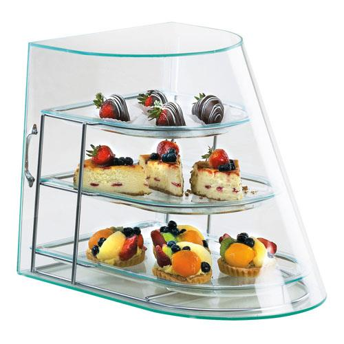Cal mil 1505 3 3 tier display case bakery donut pastry ebay for Dining room equipment
