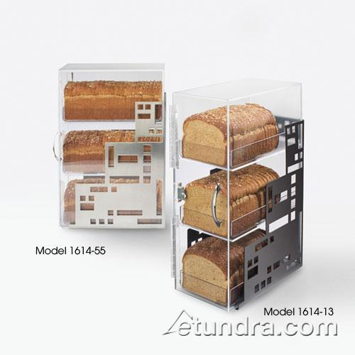 Cal mil 1614 13 3 bin black bread box etundra for Dining room equipment