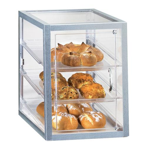 Cal mil 253 s 3 tier display case pastry bakery muffin for Dining room equipment