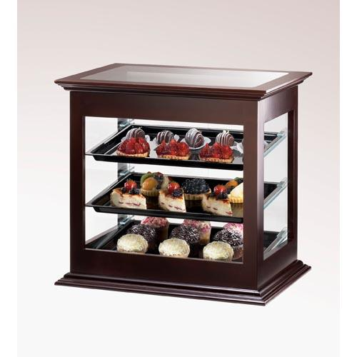 Cal mil 284 52 3 tier wood display case pastry bakery for Dining room equipment