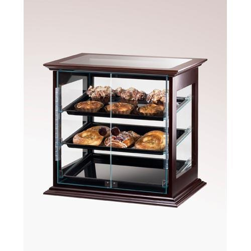 Cal mil 284 s 52 3 tier wood display case pastry bakery for Dining room equipment