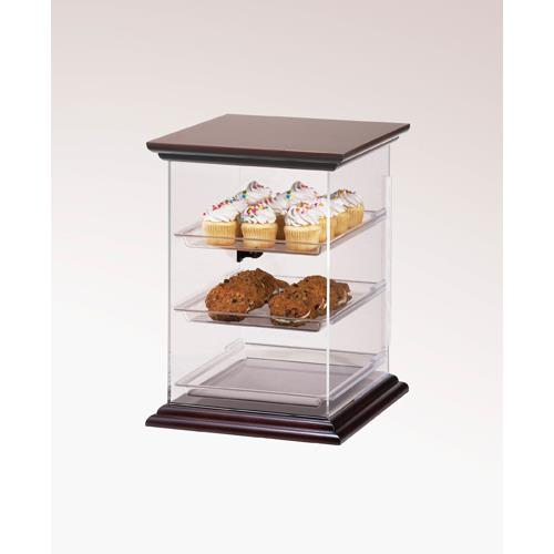 Cal mil 814 1 52 euro 3 tier wood display case pastry for Dining room equipment